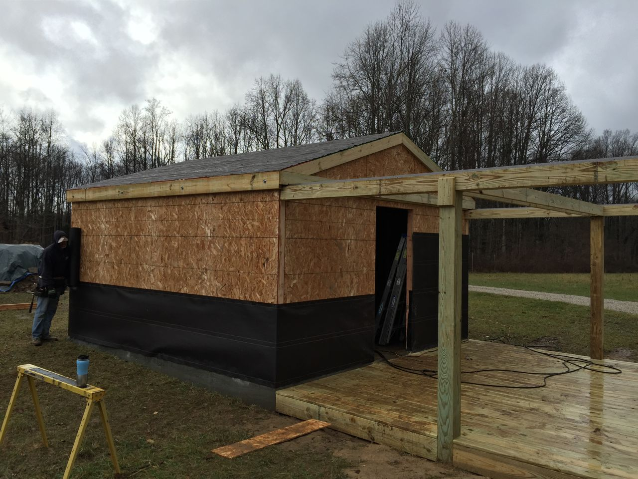 construction of our new roll off roof observatory kc9qq